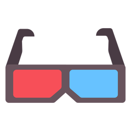 3d movie glasses flat icon