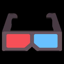 Icono plano de gafas de película 3d