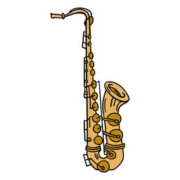Alto saxophone instrument illustration