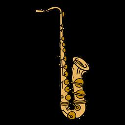 Ilustração de instrumento de saxofone alto