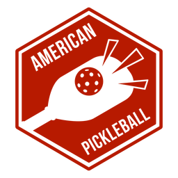 Insignia de pickleball americano pickleball