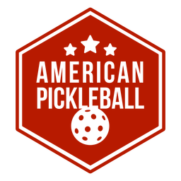 American pickleball insignia hexagonal pickleball