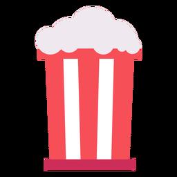 Bag popcorn flat icon
