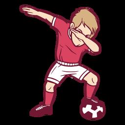 Ilustración de dab de jugador de fútbol de niño