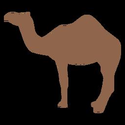 Silhueta marrom de perfil de camelo