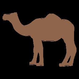 Silhueta de perfil de camelo