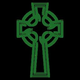 Celtic cross stroke celtic knot
