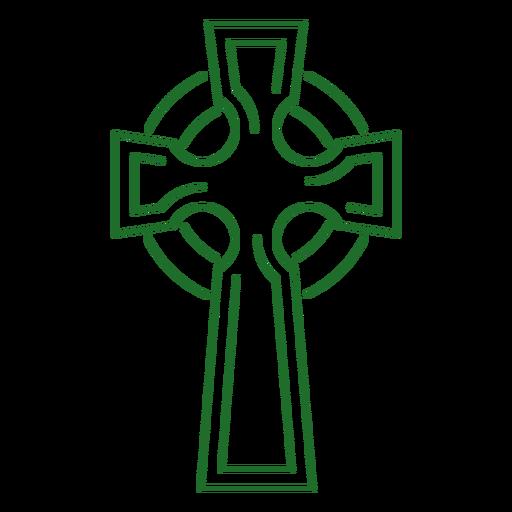 Cruz celta traço nó celta