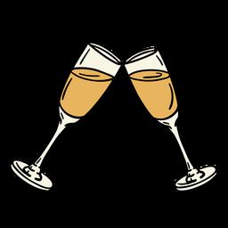 Ilustración de copas de champán