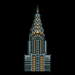 Ilustración de art deco del edificio Chrysler