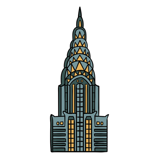 Ilustração em art déco do edifício Chrysler