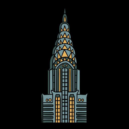 Ilustraci?n de art deco del edificio Chrysler