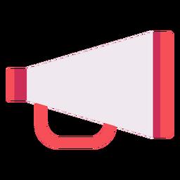 Icono plano de megáfono de director clásico