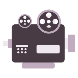 Classic film projector flat icon