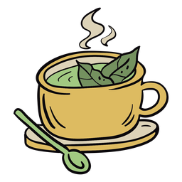 Coca tea leaves illustration
