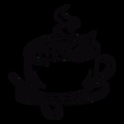 Traço de folhas de chá de coca