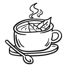 Trazo de hojas de té de coca