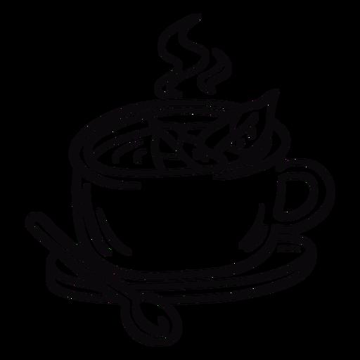 Coca tea leaves stroke Transparent PNG