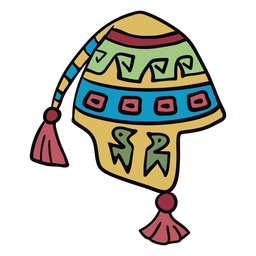 Colorful andean hat illustration