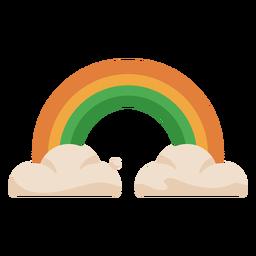 Nubes de arco iris de colores