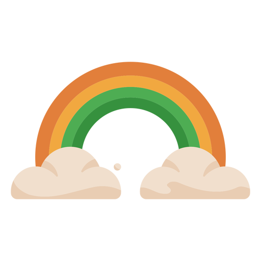 Colorful rainbow clouds