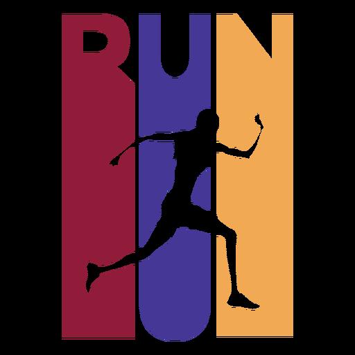 Emblema colorido de corredor de corrida