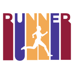 Colorful runner badge