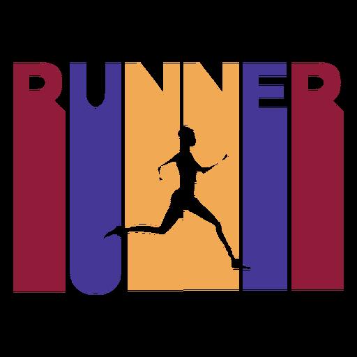 Colorful runner badge