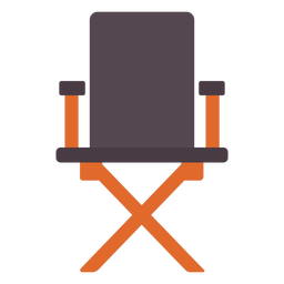 Director chair flat icon