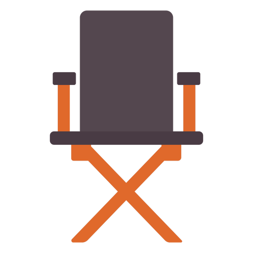 Director chair flat icon Transparent PNG