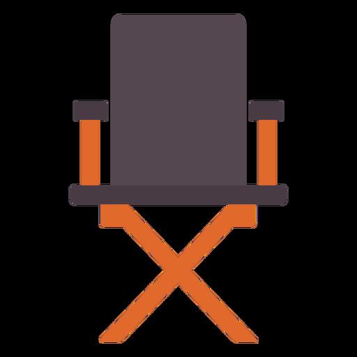 Ícone plano da cadeira do diretor