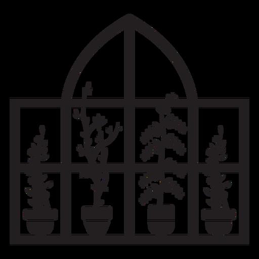 Dome rectangular window plants Transparent PNG