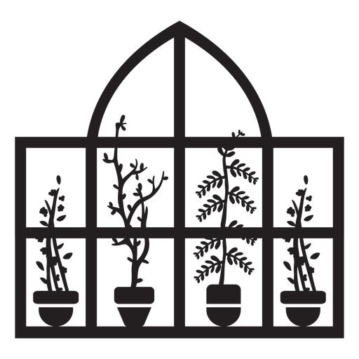 Dome rectangular window plants