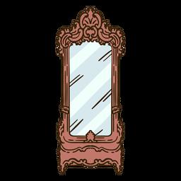 Tocador espejo adornado ilustración