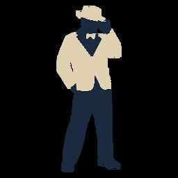 Sombrero de copa hombre traje años 20 Duotone