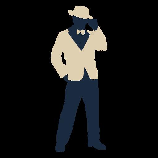 Duotone 20s man suit top hat