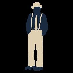 Duotone 20s man suspenders