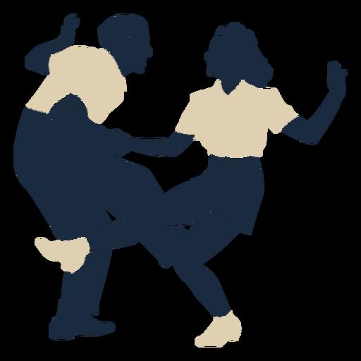 Duotone swing jazz dancing couple