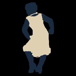 Duotone Swing Jazz tanzende Frau