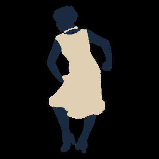 Duotone swing jazz dancing woman