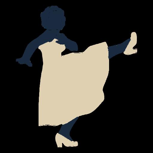 Duotone swing woman kick dancing