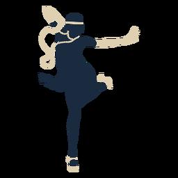 Duotone Frau Stirnband Handschuhe tanzen
