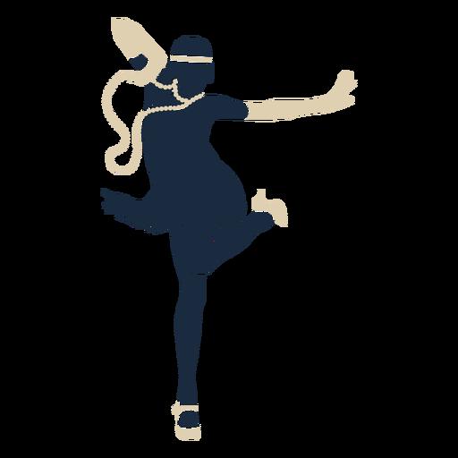 Duotono mujer diadema guantes bailando