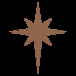 Eight point star brown