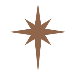 Estrella de ocho puntas marrón