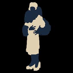 Fancy lady fur scarf dress duotone
