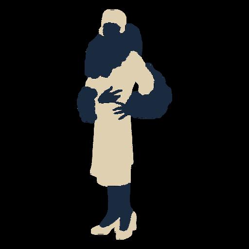 Fancy lady vestido de bufanda de piel duotono