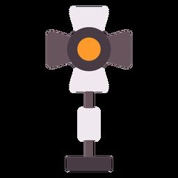 Ícone plano de luzes de filme