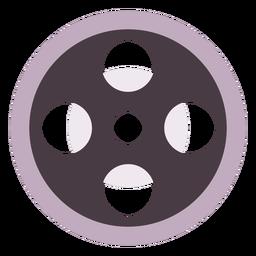 Film reel flat icon