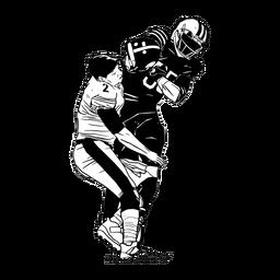 Los jugadores de fútbol abordan la ilustración